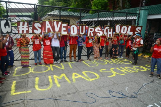 Lumad and Moro students call for DEPED action